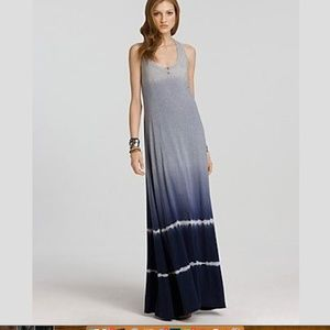 Splendid Racerback Tie Dye Ombre Maxi Dress Small